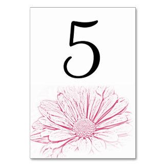 Rosa Gänseblümchen-Effekt-Wedding Karte