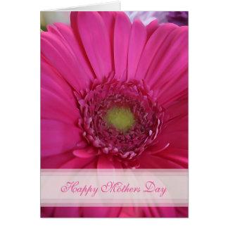 Rosa Gänseblümchen-glückliche Mutter-Tageskarte Grußkarte