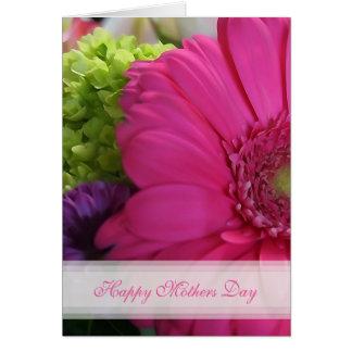 Rosa Gänseblümchen-glückliche Mutter-Tageskarte Karte