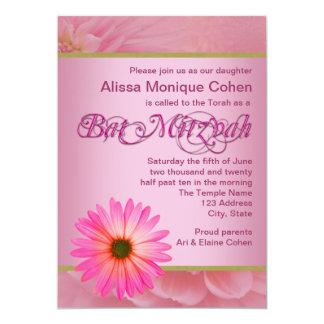 Rosa Gänseblümchen-Schläger Mitzvah Einladungen