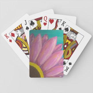 Rosa Gänseblümchen-Spielkarten Spielkarten