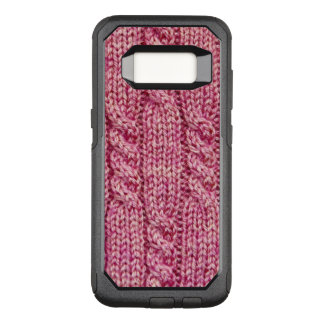 Rosa Garn verkabelter Strick OtterBox Commuter Samsung Galaxy S8 Hülle