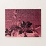 Rosa Garten-Pflanzen Foto Puzzle