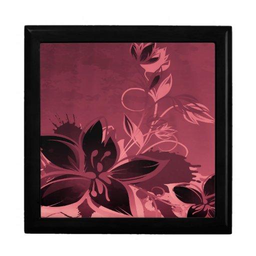 Rosa Garten-Pflanzen Große Quadratische Schatulle