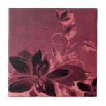 Rosa Garten-Pflanzen Keramikkacheln