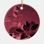 Rosa Garten-Pflanzen Ornament