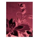 Rosa Garten-Pflanzen Postkarten