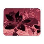 Rosa Garten-Pflanzen Vinyl Magnet