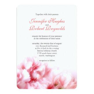 Rosa Gartennelken-Hochzeits-Einladung Karte