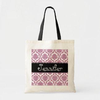ROSA Gastgeschenk Hochzeits-Damast-Tasche für Brau Budget Stoffbeutel