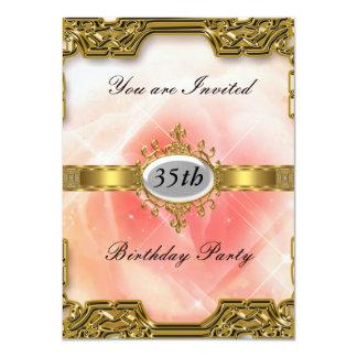 Rosa Geburtstags-Party-Glamour-heiße Einladung 2