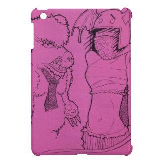 Rosa Geist-Mädchen und verärgerter Bär iPad Mini Hülle