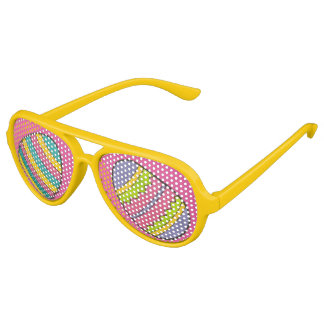 Rosa Gelb gemalte Ostern-Korb-Ei-Jagd-Eier Sonnenbrille