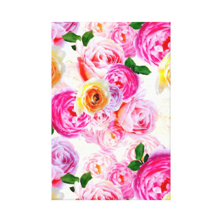 "Rosa, gelbe Rose (14"" x 11""), 3,8 cm (1,5"") Single Leinwanddruck"