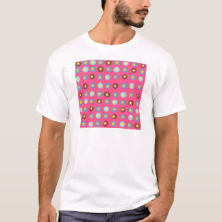Rosa gemustertes T-Shirt