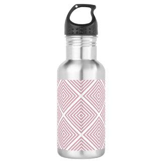 Rosa geometrische Quadrate Trinkflasche