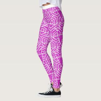 Rosa geometrischer Muster-Entwurf Leggings