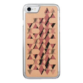 Rosa geometrisches Snakeskin Carved iPhone 8/7 Hülle