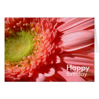Rosa Gerbera - alles Gute zum Geburtstag Karte