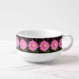 Rosa Gerbera-Gänseblümchen Große Suppentasse