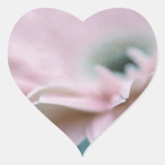 Rosa Gerbera-Gänseblümchen Herz-Aufkleber