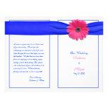 Rosa Gerbera-Gänseblümchen-Hochzeits-Programm Individuelle Flyer