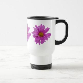Rosa Gerbera-Gänseblümchen-kundengerechte Reisebecher