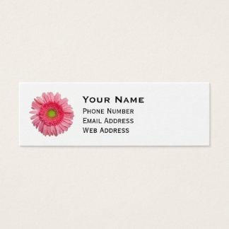 Rosa Gerbera-Gänseblümchen Mini Visitenkarte