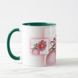 Rosa Gerbera-Gänseblümchen Tasse