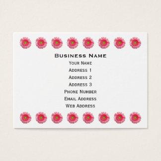 Rosa Gerbera-Gänseblümchen Visitenkarte