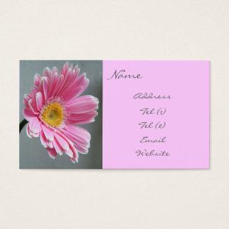 Rosa Gerbera Visitenkarte