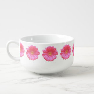 Rosa Gerberagänseblümchen Große Suppentasse