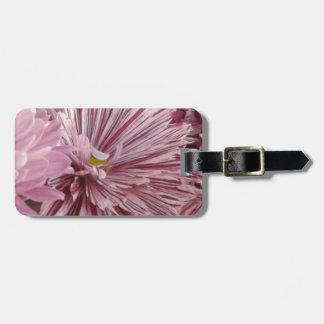 Rosa gestreifte Blume Gepäckanhänger