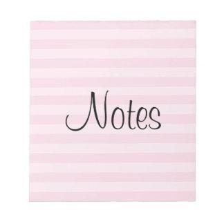 Rosa gestreiftes Muster Notizblock