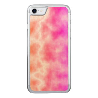 Rosa Gewitter-Himmel Carved iPhone 8/7 Hülle