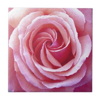 Rosa gewundene Rose Keramikfliese