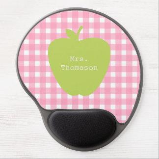Rosa Gingham+ Grünes Apple-Lehrer-Gel Mousepad