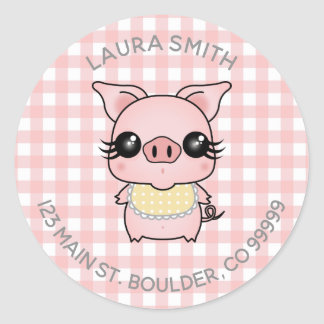 Pink Gingham Piggy