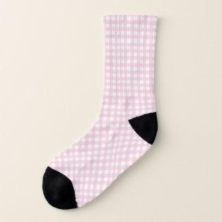 Rosa Gingham-Socken Socken