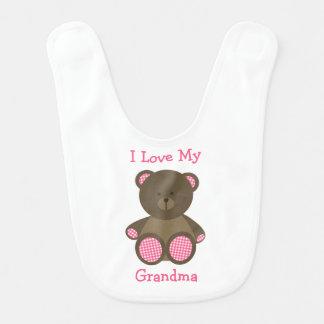 """Rosa Ginghamteddy-Bär personalisiert """"ich meine Lätzchen"""