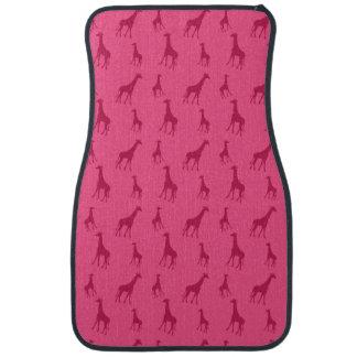 Rosa Giraffenmuster Autofußmatte