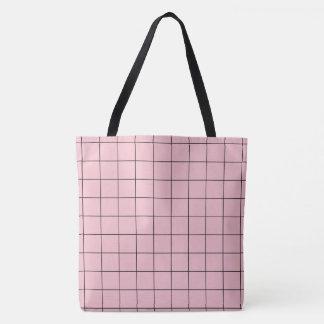 Rosa Gitter Tasche