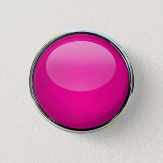 Rosa Glasball Runder Button 3,2 Cm