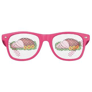 Rosa glasig-glänzendes partybrille