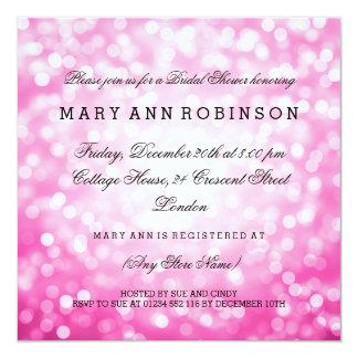Rosa Glitter beleuchtet elegantes Brautparty