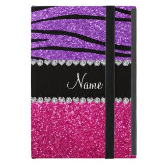 Rosa Glitter des individuellen Namens lila iPad Mini Hülle