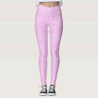 Rosa Glitter Gamaschen Leggings