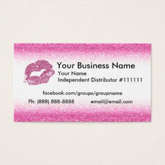 Rosa Glitter-Geschäfts-Karte Visitenkarte