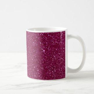 Rosa Glitter-Glitzern Kaffeetasse