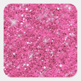 Rosa Glitter-Muster ID144 Quadratischer Aufkleber